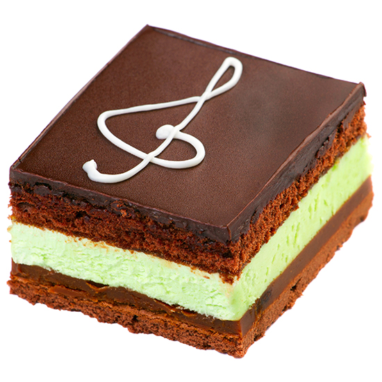 pastel de menta y chocolate